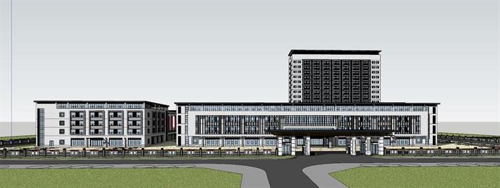 现代新中式高端医院疗养院养老院规划设计(3)