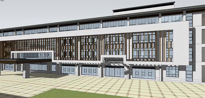 现代新中式高端医院疗养院养老院规划设计(4)