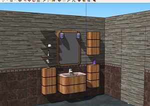 洗浴设施素材设计SU(草图大师)模型