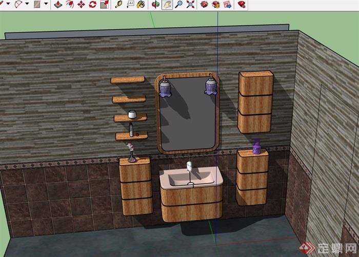 洗浴设施素材设计su模型