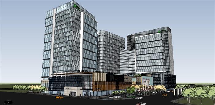 现代城市商业综合体带屋顶花园景观设计(1)