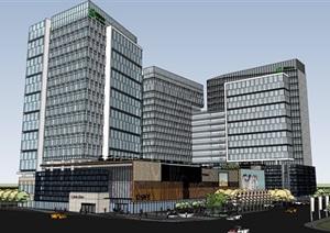 现代城市商业综合体带屋顶花园景观设计