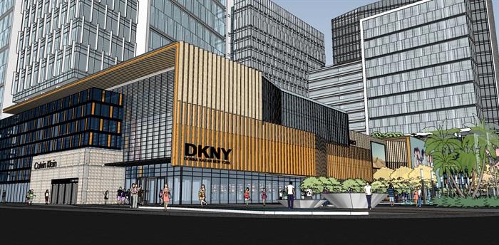 现代城市商业综合体带屋顶花园景观设计(2)