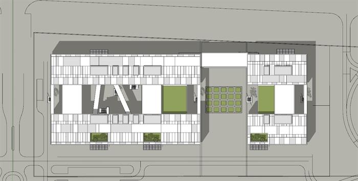 现代创意木百叶格栅表皮软件园创业园区办公写字楼(7)