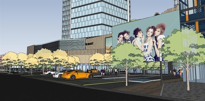 现代城市商业综合体带屋顶花园景观设计(3)