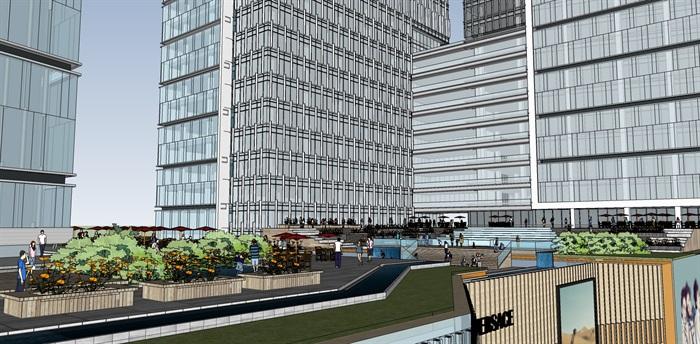 现代城市商业综合体带屋顶花园景观设计(4)