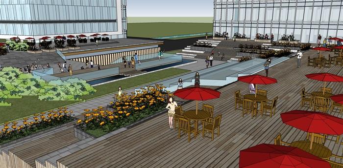 现代城市商业综合体带屋顶花园景观设计(6)