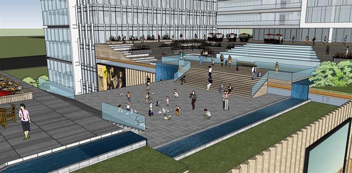 现代城市商业综合体带屋顶花园景观设计(7)