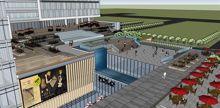 现代城市商业综合体带屋顶花园景观设计(8)