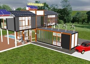 集装箱改造?#27801;中?#21457;展绿色节能新能源利用?#35838;?#20303;宅别墅