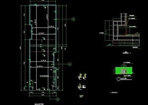 现代游泳池详细设计cad施工图