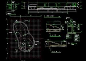 现代游泳池详细完整设计cad施工图