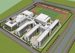 现代创意简约中小学校园规划设计