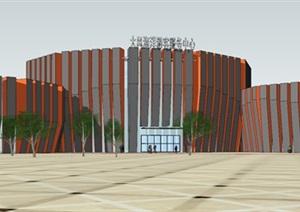 圆形游客服务中心展示文化中心
