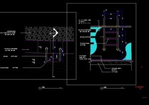 游泳池详细设计cad立剖面图