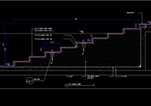 游泳池台阶剖面图