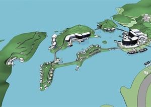 水上滨湖?#27827;?#21830;业度假旅游商业综合规划酒店民宿设计