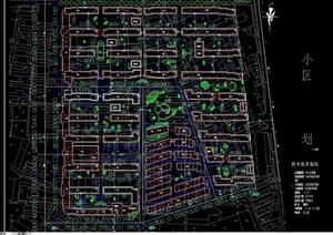某居住现代小区规划cad方案图