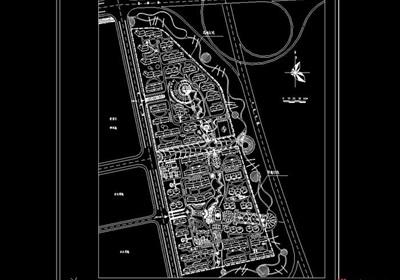 新区地块住宅小区规划cad方案