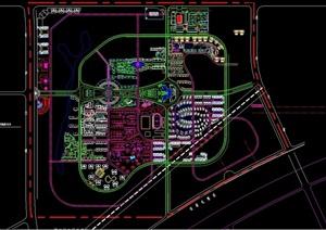 新块住宅详细景观规划cad方案