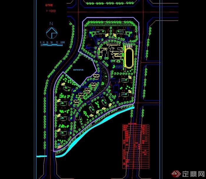 某家园小区A区修建性详细规划cad方案