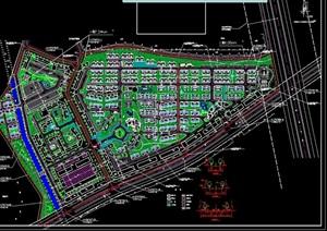 某小区详细规划cad方案图