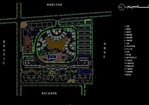 居住详细的小区设计cad方案