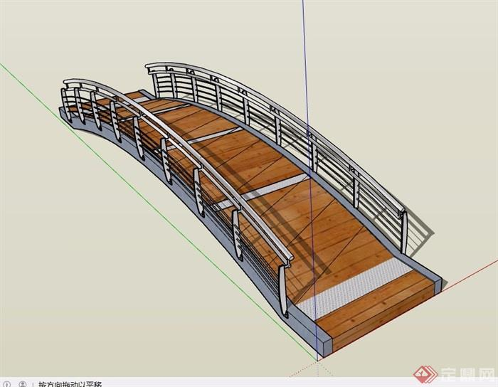 现代绘制园桥素材v素材su模型《影视动画背景过河技法》图片