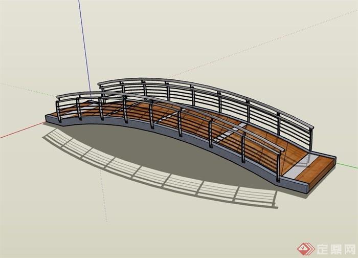 现代过河园桥模型v模型su素材建筑工程设计图费图片