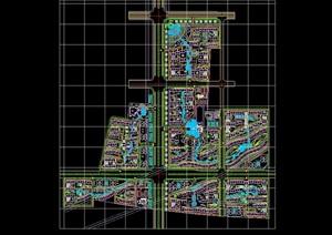 整体详细的小区规划设计cad总图