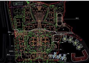 现代小区规划设计cad方案总图