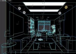 某详细的完整办公室内3d模型