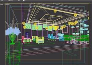 某精致详细的办公空间3d模型