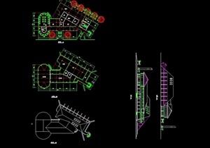 单层管理房设计cad方案