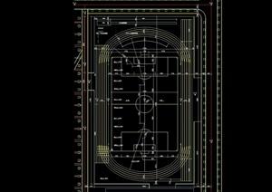 体育场设计cad方案