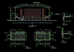 某篮球运动场建筑设计cad方案