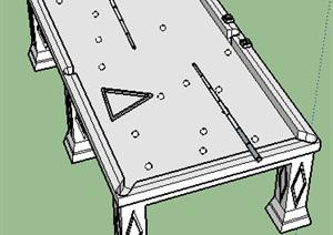 桌球台球桌SU(草图大师)素材模型