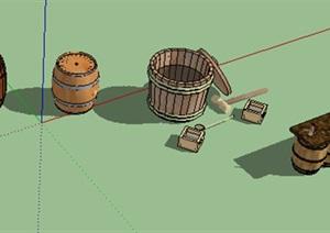 酒桶木桶?#21830;⊿U(草图大师)模型打包