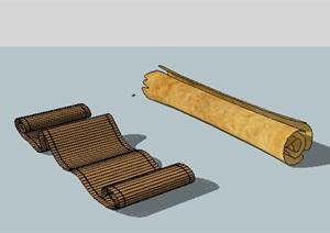 古老的卷纸SU(草图大师)模型素材