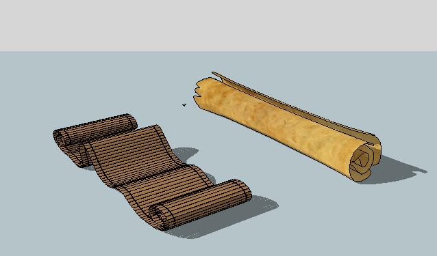 古老的卷纸SU模型(1)