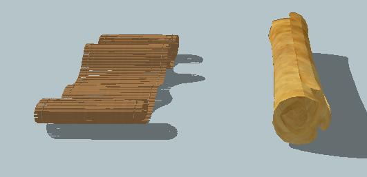 古老的卷纸SU模型(2)