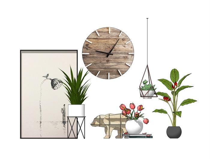 陈设植物装饰品摆件组合(3)