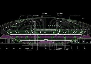 体育运动场馆建筑设计cad剖面图