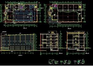 某多层游泳馆建筑设计cad施工图