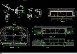 某详细的体育运动场馆建筑设计cad施工图