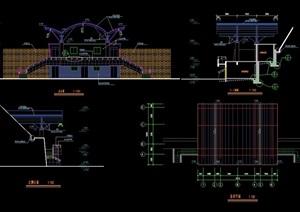 现代体育馆建筑设计cad施工图