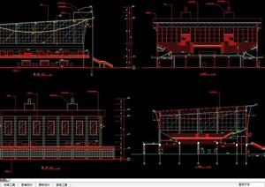 某现代篮球馆建筑设计cad施工图
