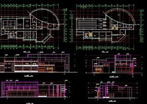 详细的体育场馆建筑设计cad方案