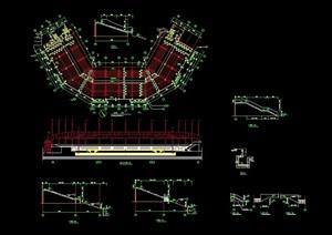 体育场馆建筑的cad方案