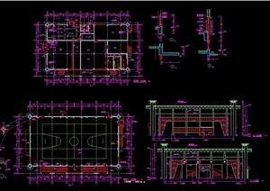 体育运动场馆建筑设计cad施工图
